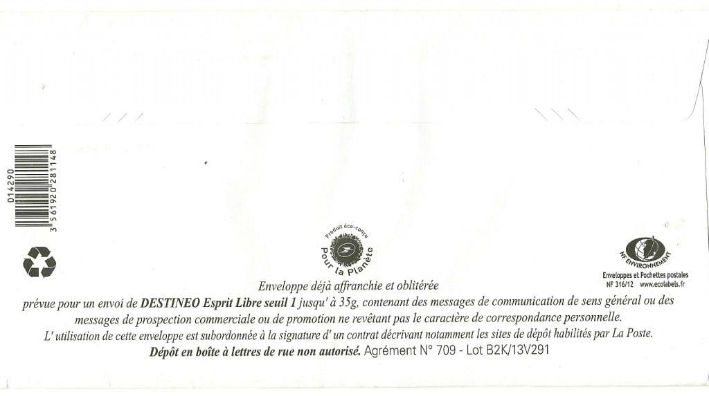 message d'avertissement pour les mailing avec Destinéo