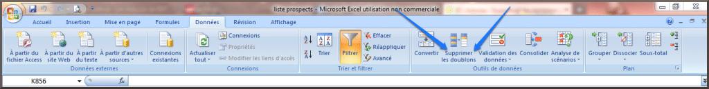 Excel propose une option automatique pour supprimer vos doublons