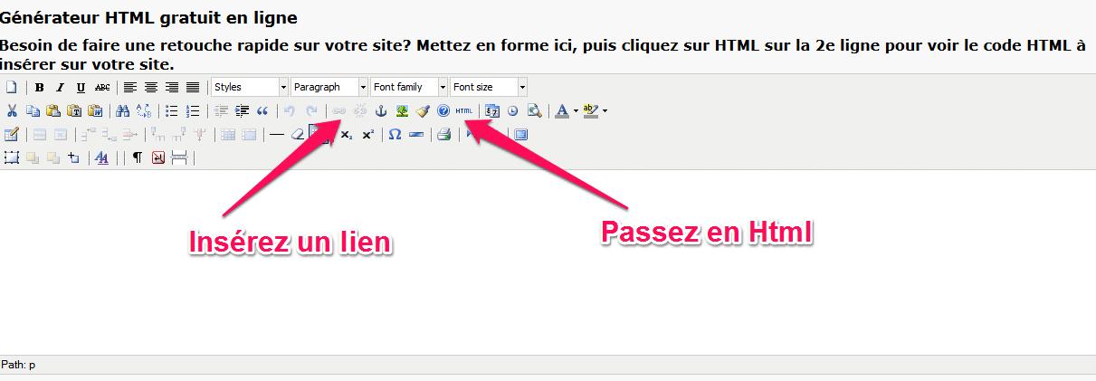 ecrire en html