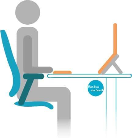 amenager son bureau avec un ordinateur portable