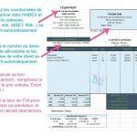 modele de facture sur excel avec différentes TVA