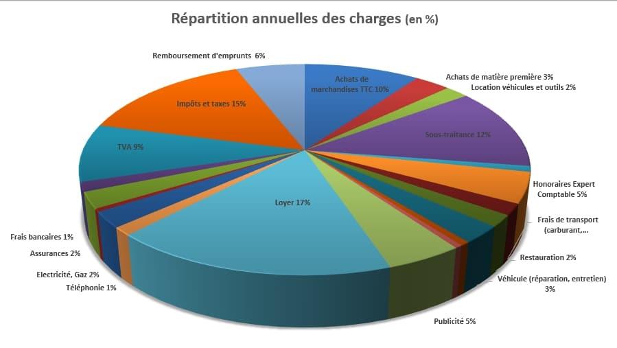 graphique des achats par an