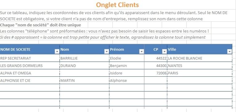 detail du suivi clients et des affaires